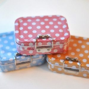 Polka Dot Sewing Kit in a Tin - 8cm x 6cm x 2.8cm 60 Pieces - 3 Colours Avail[Orange]-10